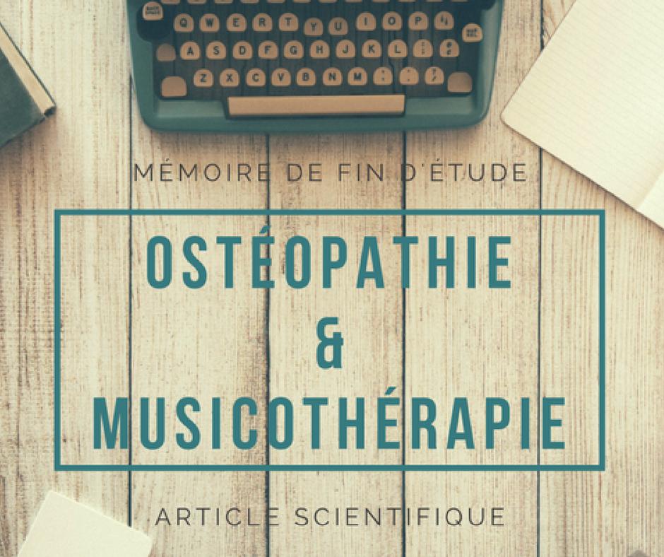 Recherche ostéopathie sur la musicothérapie
